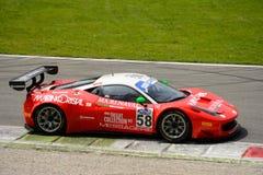 Ferrari 458 italia GT3 italienare GT 2015 på Monza Arkivbild