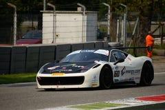 Ferrari 458 italia GT3 italienare GT 2015 på Monza Arkivfoto