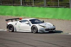 Ferrari 458 Italia GT2 på Monza Royaltyfri Bild