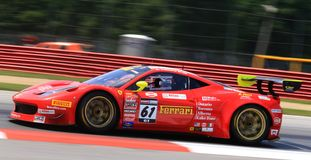 Ferrari Italia GT3 pro-springa Fotografering för Bildbyråer