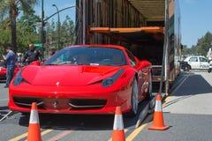 Ferrari 458 Italia kupébil på skärm Arkivbild