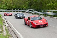 Ferrari 458 Italia no miglia 2013 de Mille Fotografia de Stock