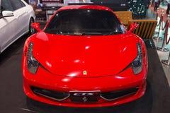 Ferrari 458 Italia på skärm Royaltyfria Foton