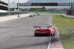 FERRARI 458 ITALIA racerbil Arkivbild