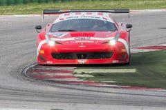 FERRARI 458 ITALIA racerbil Arkivfoton