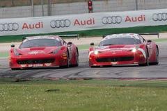 FERRARI 458 ITALIA racerbil Fotografering för Bildbyråer