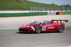 FERRARI 458 ITALIA racerbil Arkivbilder