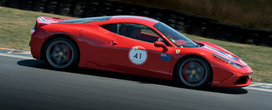 Ferrari Italia Stradiale sports race car Stock Photos