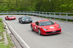 Ferrari 458 Italie dans le miglia 2013 de Mille Photographie stock