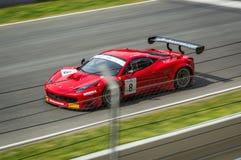Ferrari 458 Italien in Stromkreisde Barcelona, Katalonien, Spanien lizenzfreie stockbilder