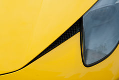 Ferrari jaune Image libre de droits