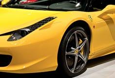 Ferrari jaune Photo libre de droits
