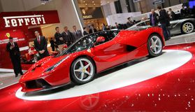 Ferrari Laferrari hybrid supercar Royalty Free Stock Photos