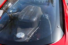 Ferrari LaFerrari motor på dsplay Royaltyfri Fotografi