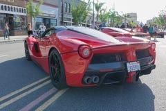 Ferrari LaFerrari på skärm Arkivbilder