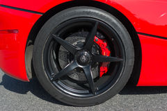 Ferrari LaFerrari wheel details Stock Image
