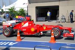 Ferrari-laufendes Auto in 2012 F1 kanadisches großartiges Prix stockfoto