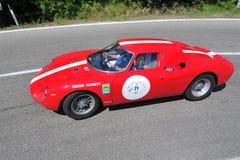 Ferrari Le Mans - Vernasca silberne Markierungsfahne 2011 Lizenzfreies Stockfoto