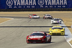 Ferrari leading at Grand AM Rolex Races Stock Images