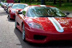Ferrari line up Royalty Free Stock Photography