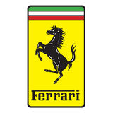 Ferrari logo   automobile manufacturer Royalty Free Stock Images