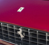 Ferrari. Logo detail on the radiator grille and Coat of Arms  250 berlinetta Royalty Free Stock Photo