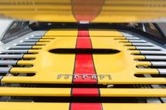 Ferrari logo on display Stock Image