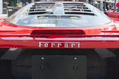 Ferrari logo on display Stock Photography