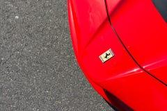 Ferrari logo on display Stock Images