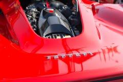Ferrari logo på skärm Royaltyfria Bilder