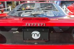 Ferrari logo på skärm Royaltyfri Fotografi