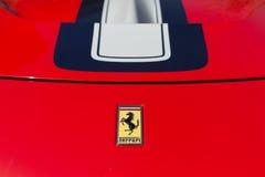 Ferrari logo på skärm Royaltyfri Foto