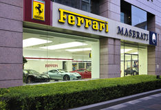 Ferrari Maserti Exhibition hall Stock Photos
