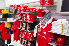 Ferrari merchandise and souvenirs Stock Photos
