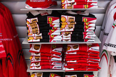 Ferrari merchandise and souvenirs Royalty Free Stock Image