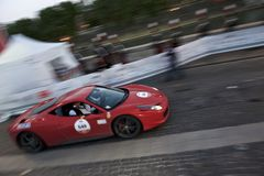 Ferrari during Mille MIglia in Rome Royalty Free Stock Photography