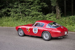 Ferrari 250 millimetri Berlinetta Pininfarina 1953 in Mille Miglia 201 Fotografia Stock Libera da Diritti