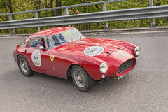Ferrari 250 MM (1953) in rally Mille Miglia 2013 Royalty Free Stock Photos