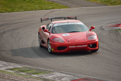 Ferrari 360 Modena Merzario Academy 2016 at Monza Royalty Free Stock Images