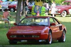 Ferrari Mondial - Concours-dÂ'elegance PieÅ ¡ Å¥any, Slowakije stock afbeeldingen