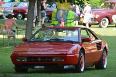 Ferrari Mondial - Concours d´elegance Piešťany, Slovakia. The Ferrari Mondial is a mid-engined, V8-powered grand tourer which was produced by Italian stock images
