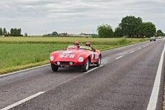Ferrari 500 Mondial in Mille Miglia 2013 Fotografia Stock Libera da Diritti