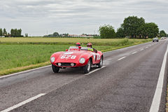 Ferrari 500 Mondial in Mille Miglia 2013 Royalty Free Stock Photo
