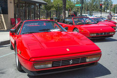 Ferrari Mondial T Cabriolet on display Stock Photography