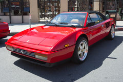 Ferrari Mondial T Cabriolet on display Royalty Free Stock Photo