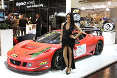 Ferrari mostrado en la demostración de motor de Essen fotografía de archivo libre de regalías