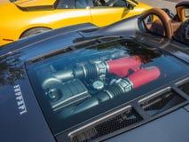 Ferrari-motor stock fotografie