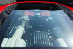 Ferrari motor på skärm Royaltyfria Foton