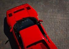Ferrari obenliegend Lizenzfreie Stockfotografie