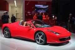Ferrari på Paris den motoriska showen 2014 Arkivbilder